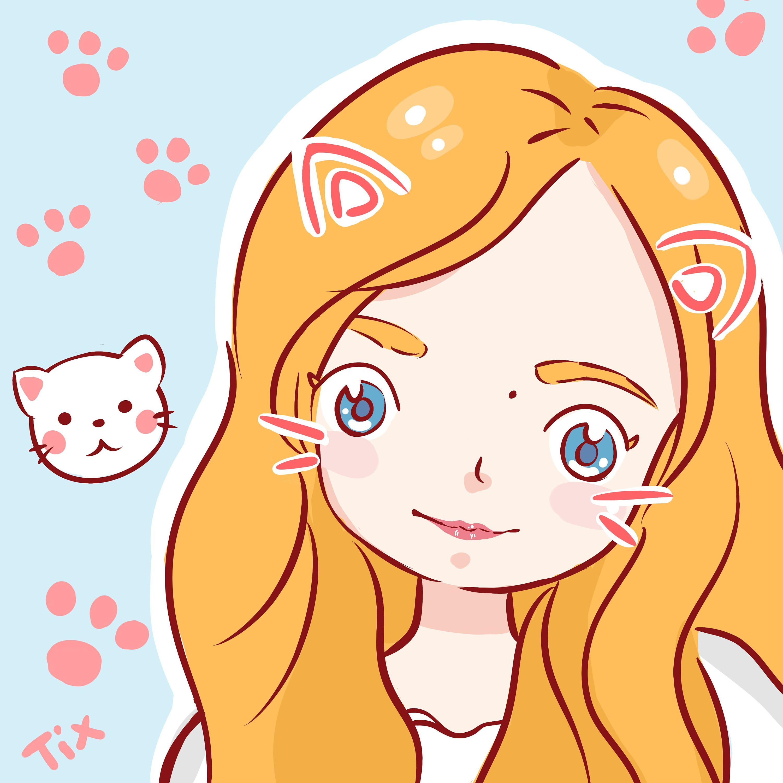可爱手绘q版猫咪图片