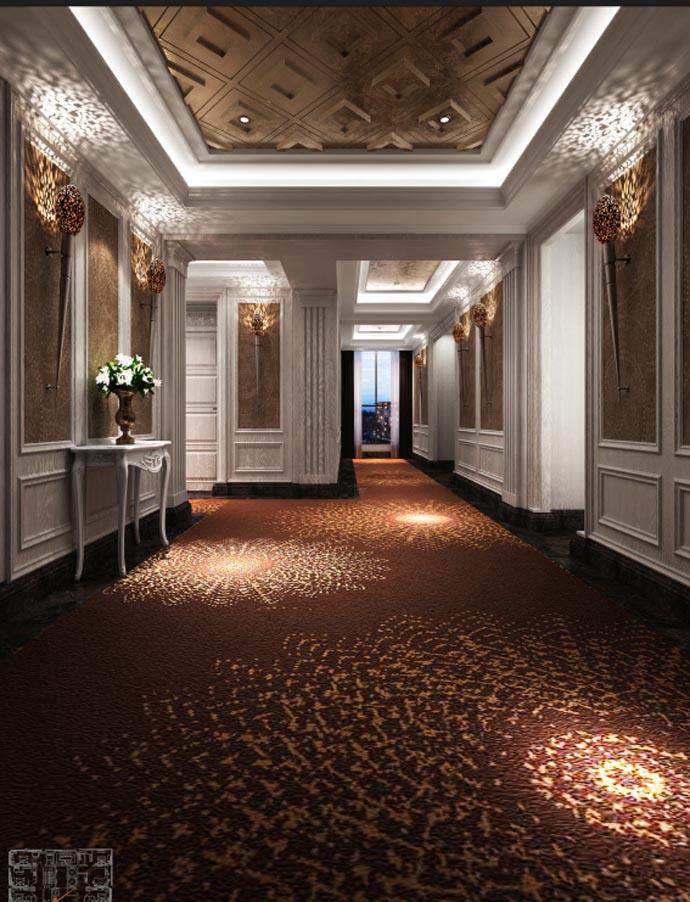 法式酒店酒店--德阳主题v酒店|德阳酒店装修|室内平面设计交付期间图片