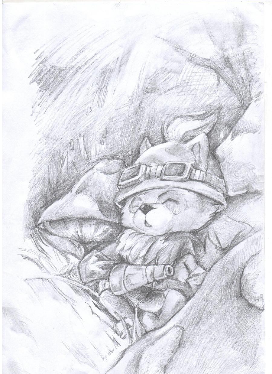 lol英雄联盟--提莫|绘画习作|插画|zjl1111