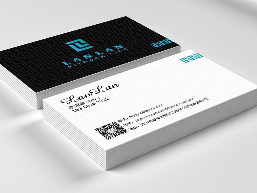 运动服饰品牌logo+名片+吊牌设计:lanlan图片