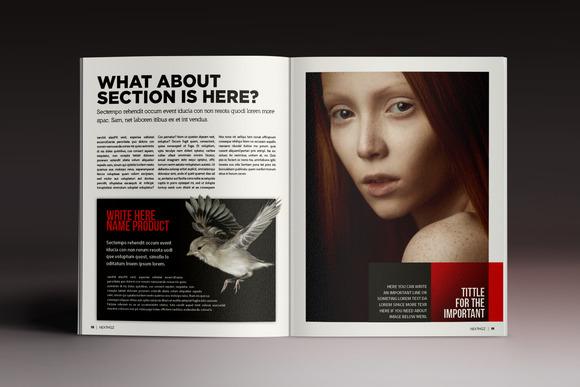 艺术摄影杂志画册indesign格式模板企业社会新闻杂志indd模板图片