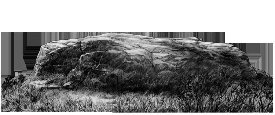 岩石马克笔手绘