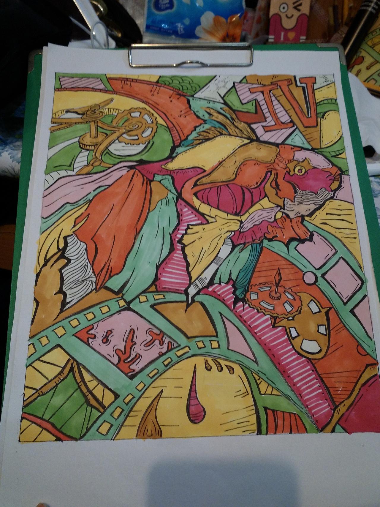 最终完成色稿 使用工具:touch马克笔图片