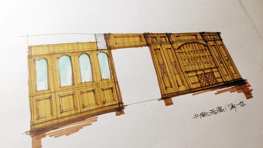 非专业的手绘小稿|室内设计|空间/建筑|xingbenben