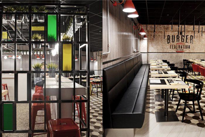汉堡品牌餐厅形象设计|室内设计|人口/绘制|zhu建筑全球穆斯林空间地图图片