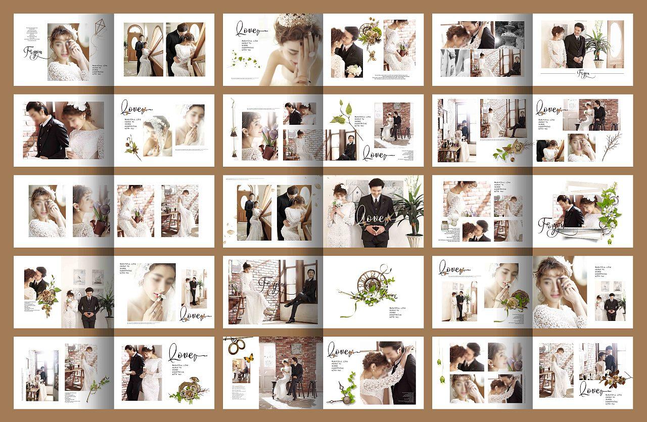 婚纱照相册 写真相册 摄影相册 相册模板 婚纱相册模板 韩式婚纱照排版