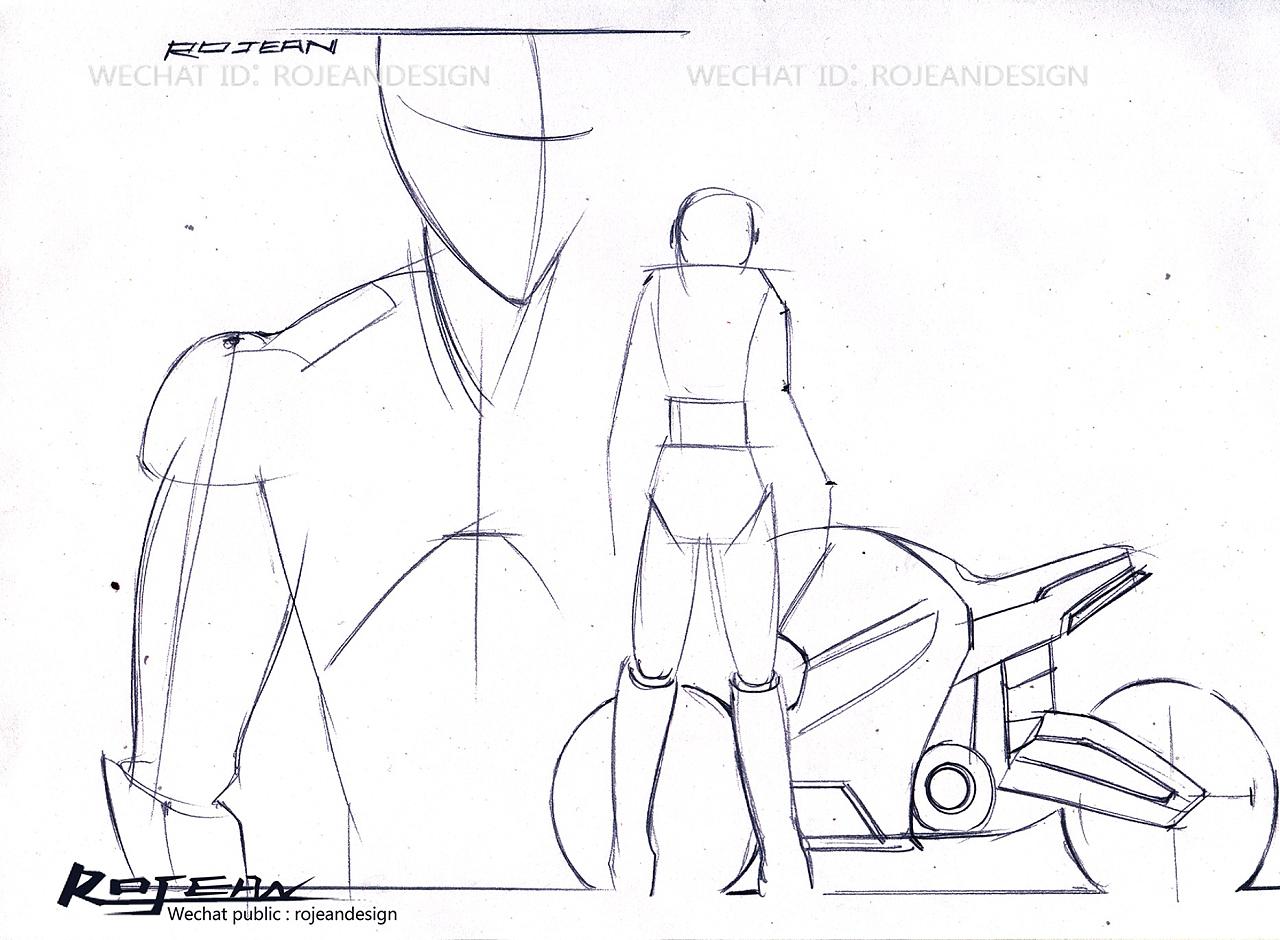 机器人设计手绘过程|工业/产品|工业用品/机械|rojean