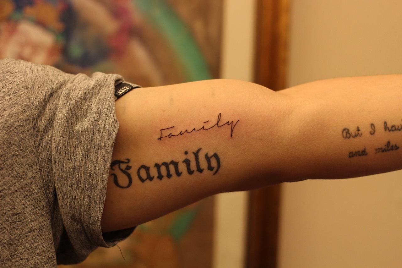 冬竹刺青  纹身  刺青  英文纹身  文字纹身  艺术纹身图片