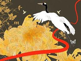 《白鹤与花》系列