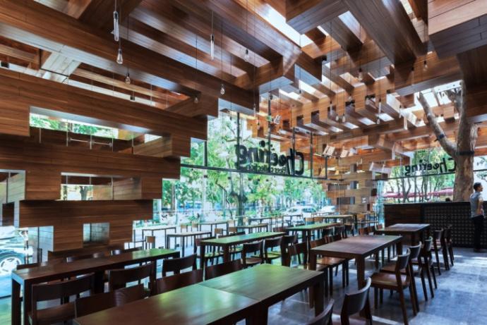 《樱桃餐厅装修设计案例》—中卫专业餐厅装修设计