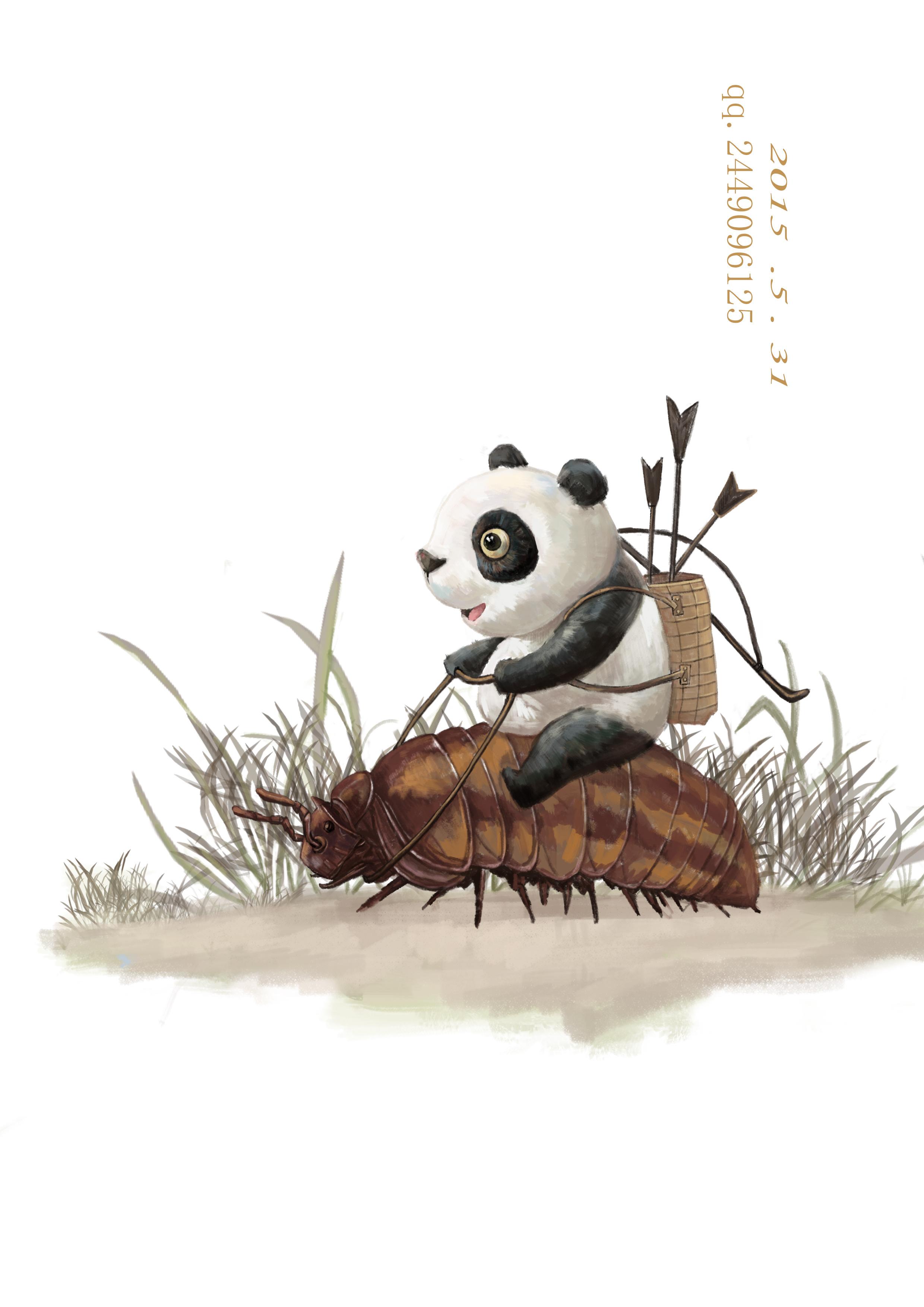 小熊猫坐骑|插画|商业插画|一布一画 - 原创作品图片