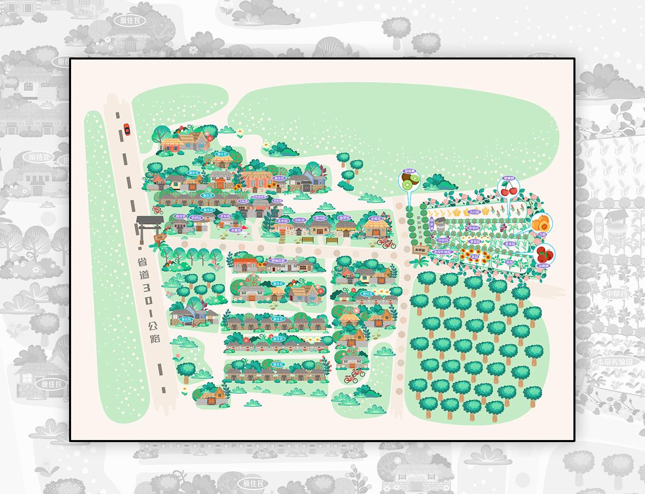 xx岛手绘地图