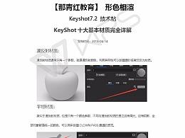 【形色相渲】Keyshot7.2技术贴-十大基本材质详解