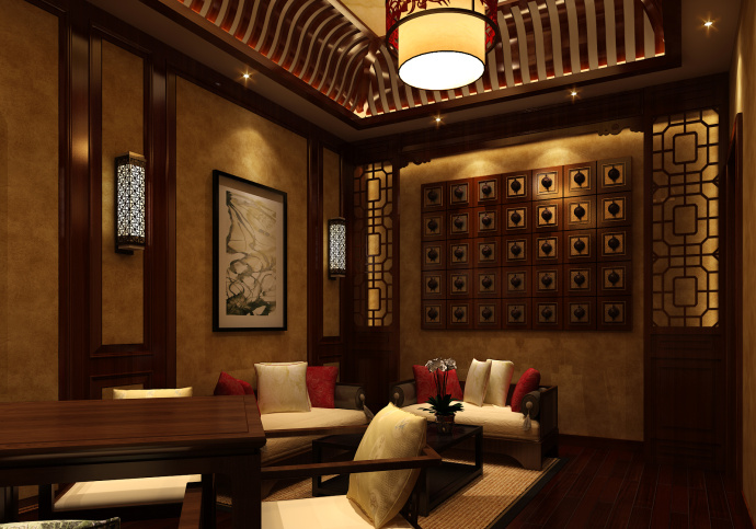 内江茶楼设计丨凯歌归茶楼设计装修|室内设计|空间