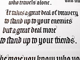 [Calligraphy X Lettering]手写西文字体之平织菱足体