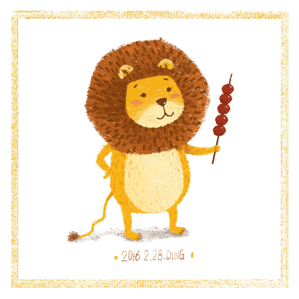 插画每日一图ps电脑手绘小动物2