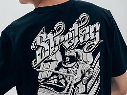 STRETAG经典GTA1.0复刻版美式街头T恤