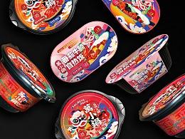尚智x万小锅 | 自热火锅包装设计/自热饭包装设计