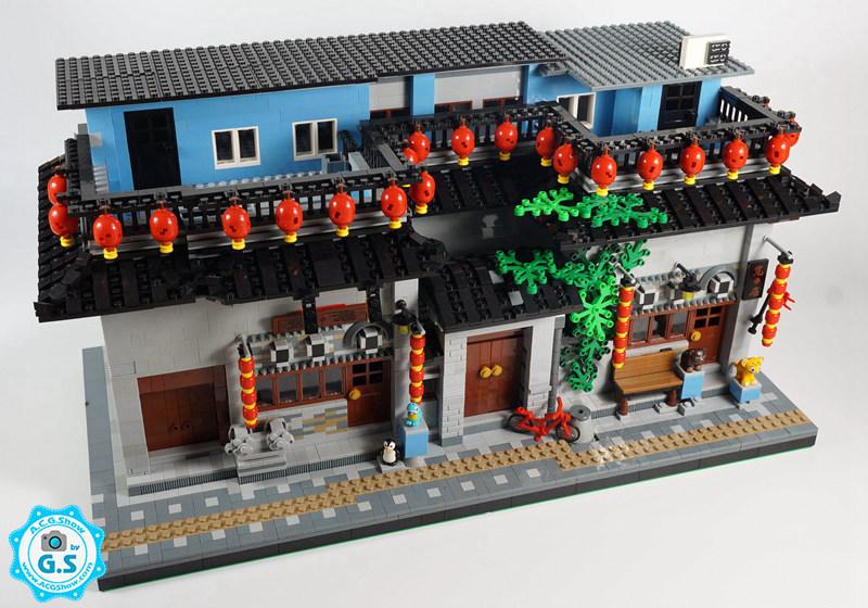 查看《【GS的MOC】中国风-宽·店(北京鼓楼店)》原图,原图尺寸:800x560