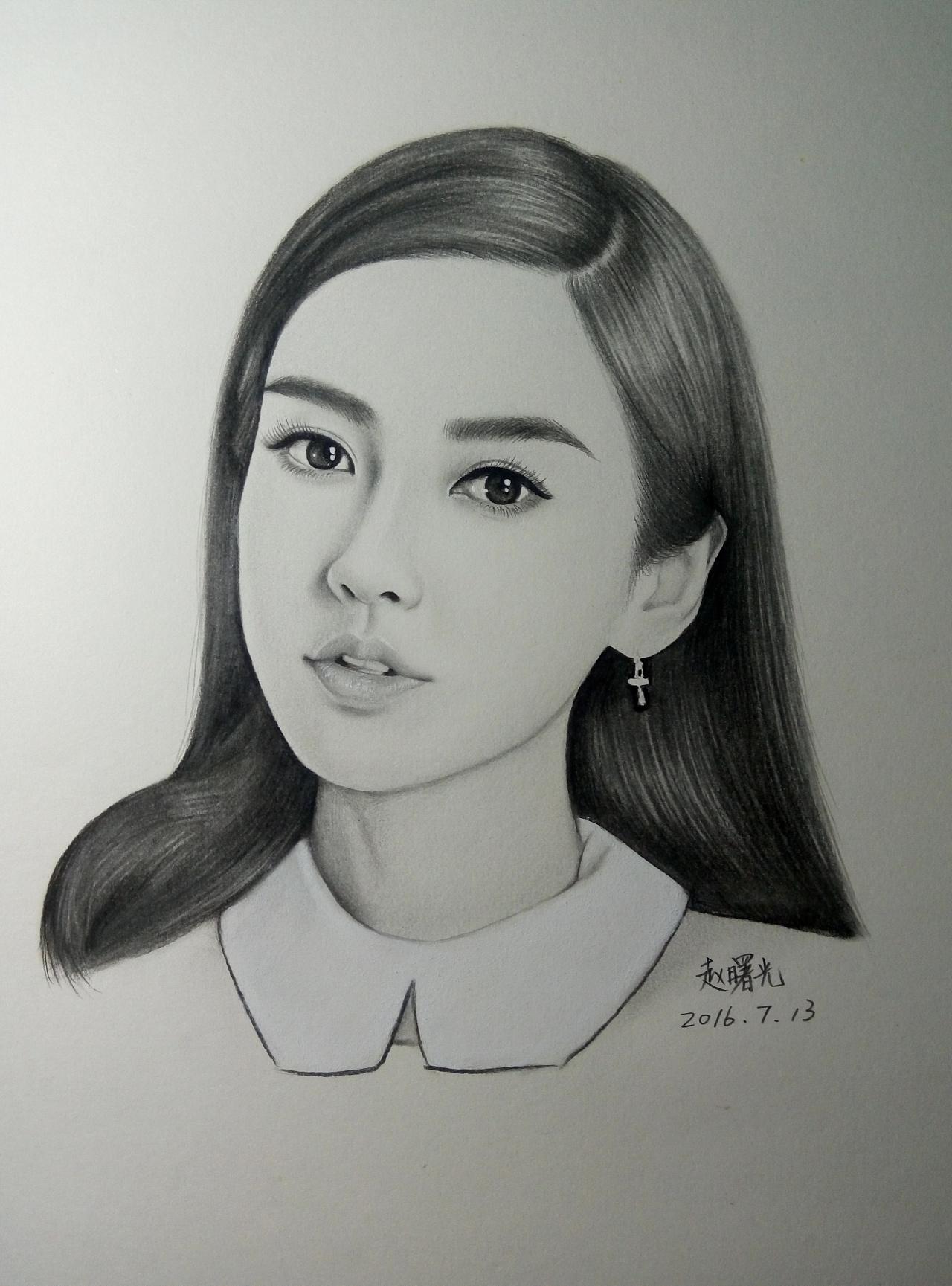 手绘angelababy 杨颖