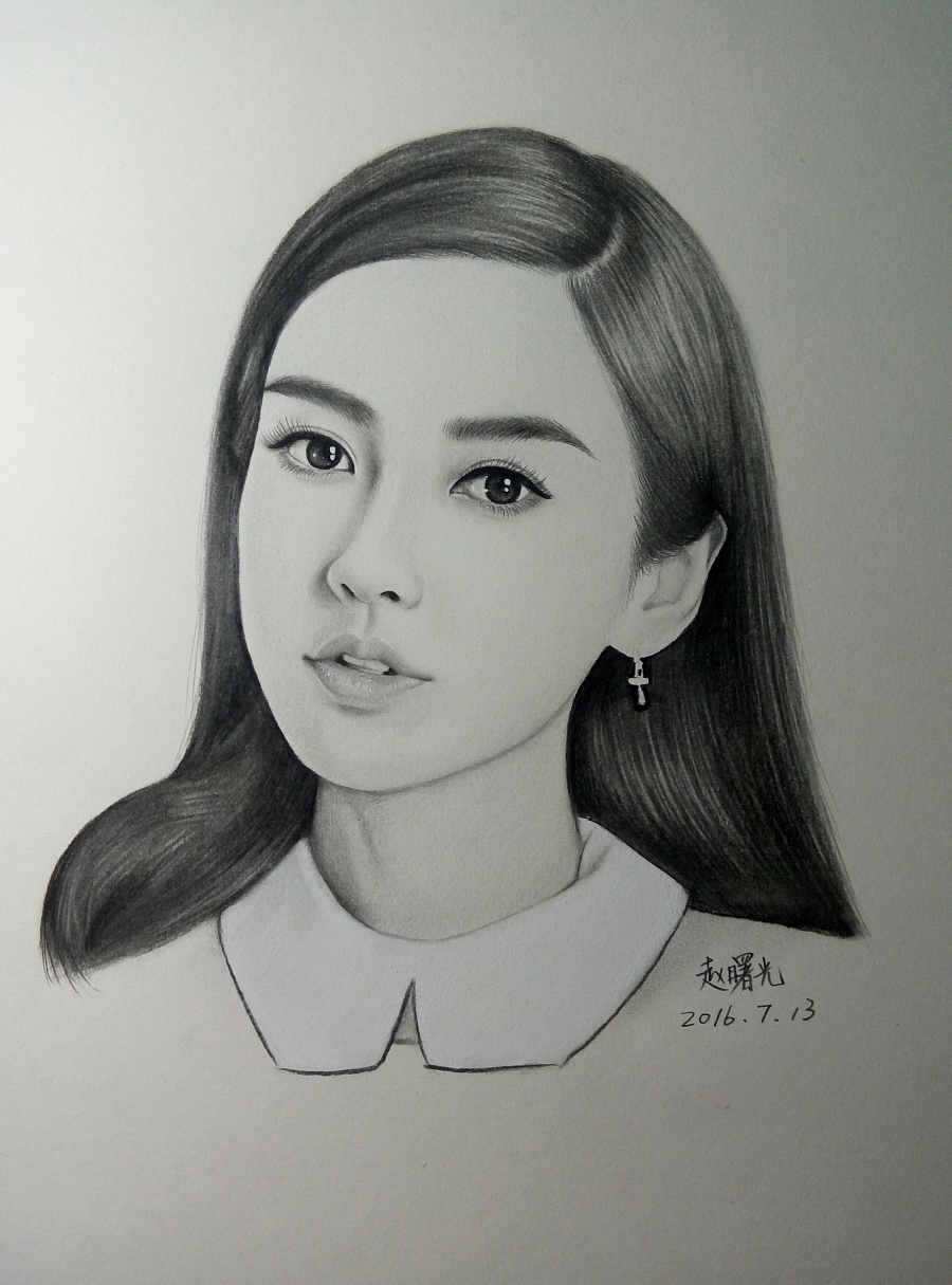 手绘angelababy 杨颖|素描|纯艺术|曙光的画
