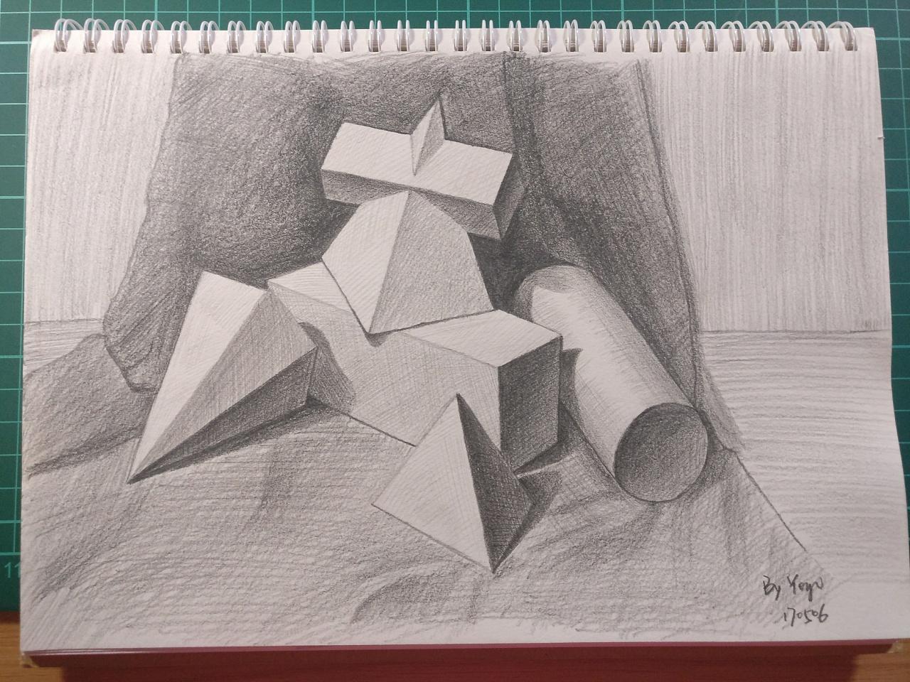 几何石膏体素描练习图片