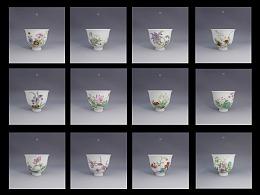 十二花神杯 陶瓷手绘