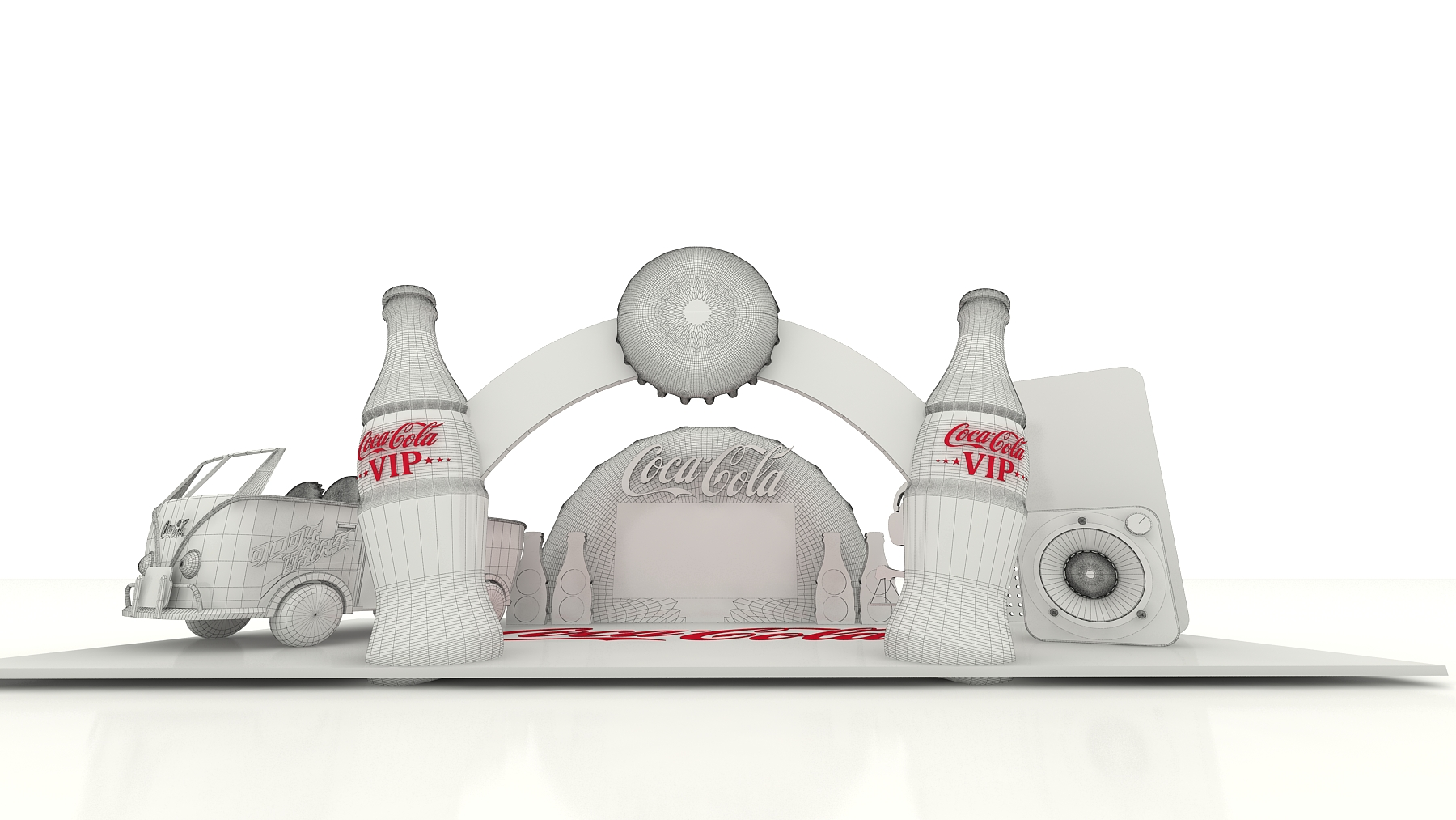 可口可乐体验站|空间|展示设计 |lchow - 原创作品图片