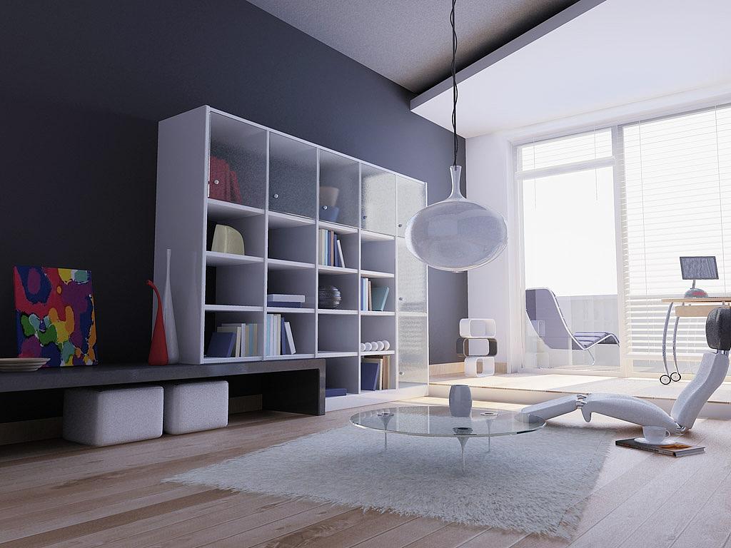 【咸阳塞纳春天】书房装修案例1|空间|室内设计|咸阳图片