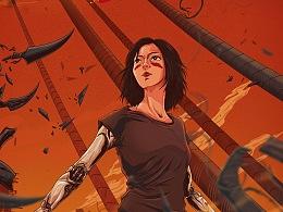 《阿利塔:战斗天使》插画海报