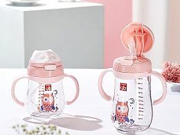 婴儿卡通奶瓶
