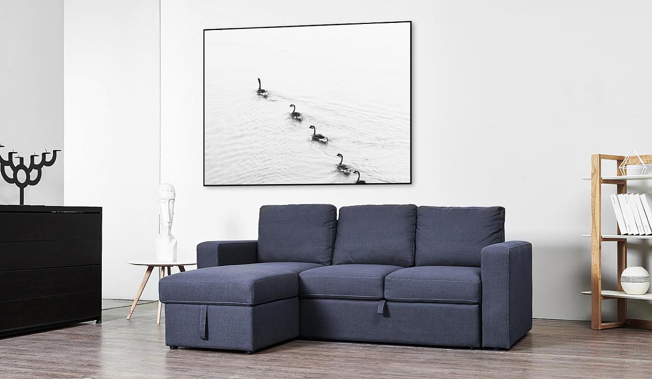 北欧风布艺沙发图片
