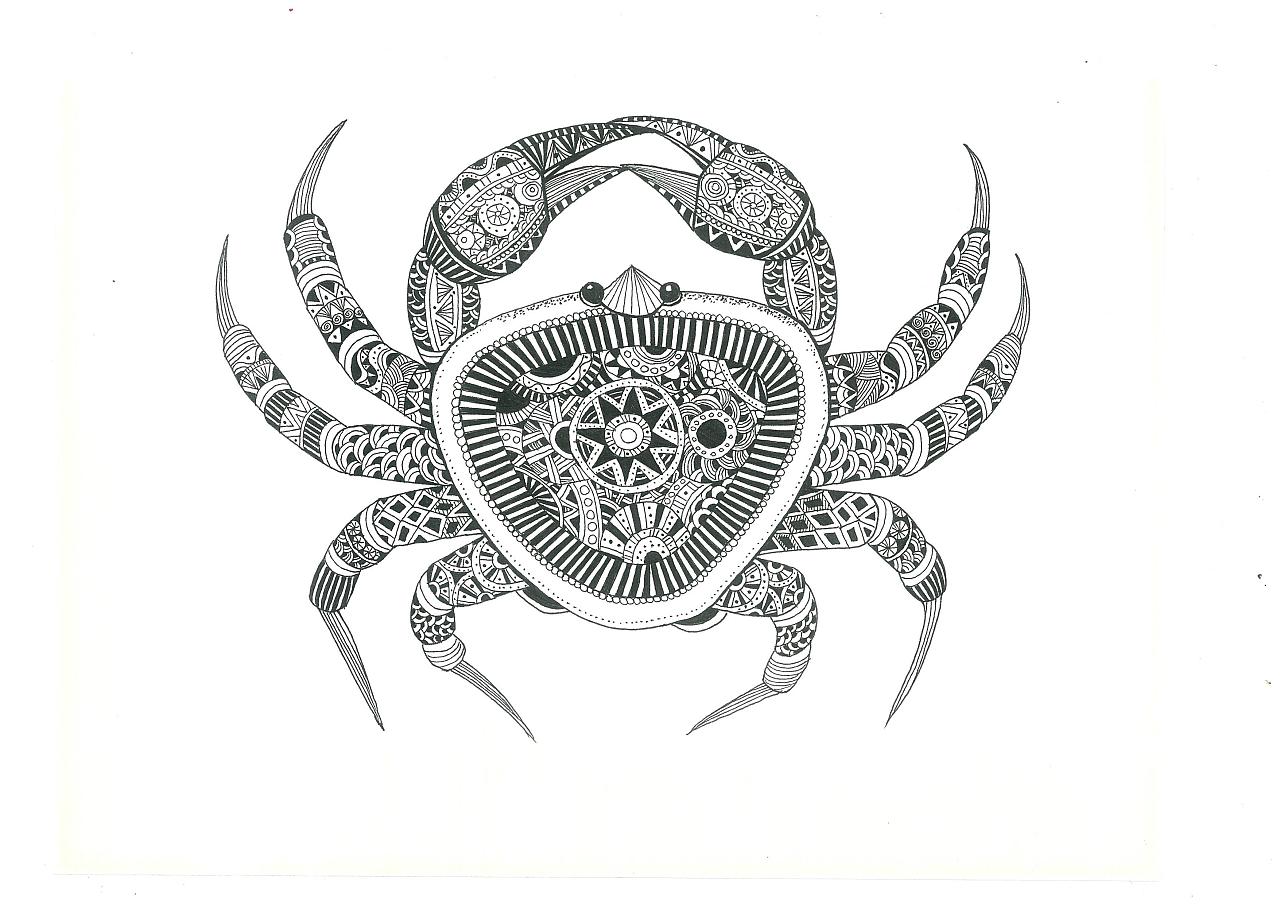 以手绘的形式来表现海鲜的唯美形态,整体用黑白