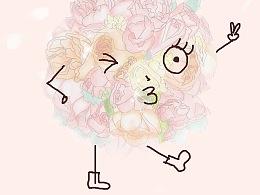 手绘手捧花