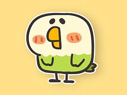 微信表情【小鹦鹉】