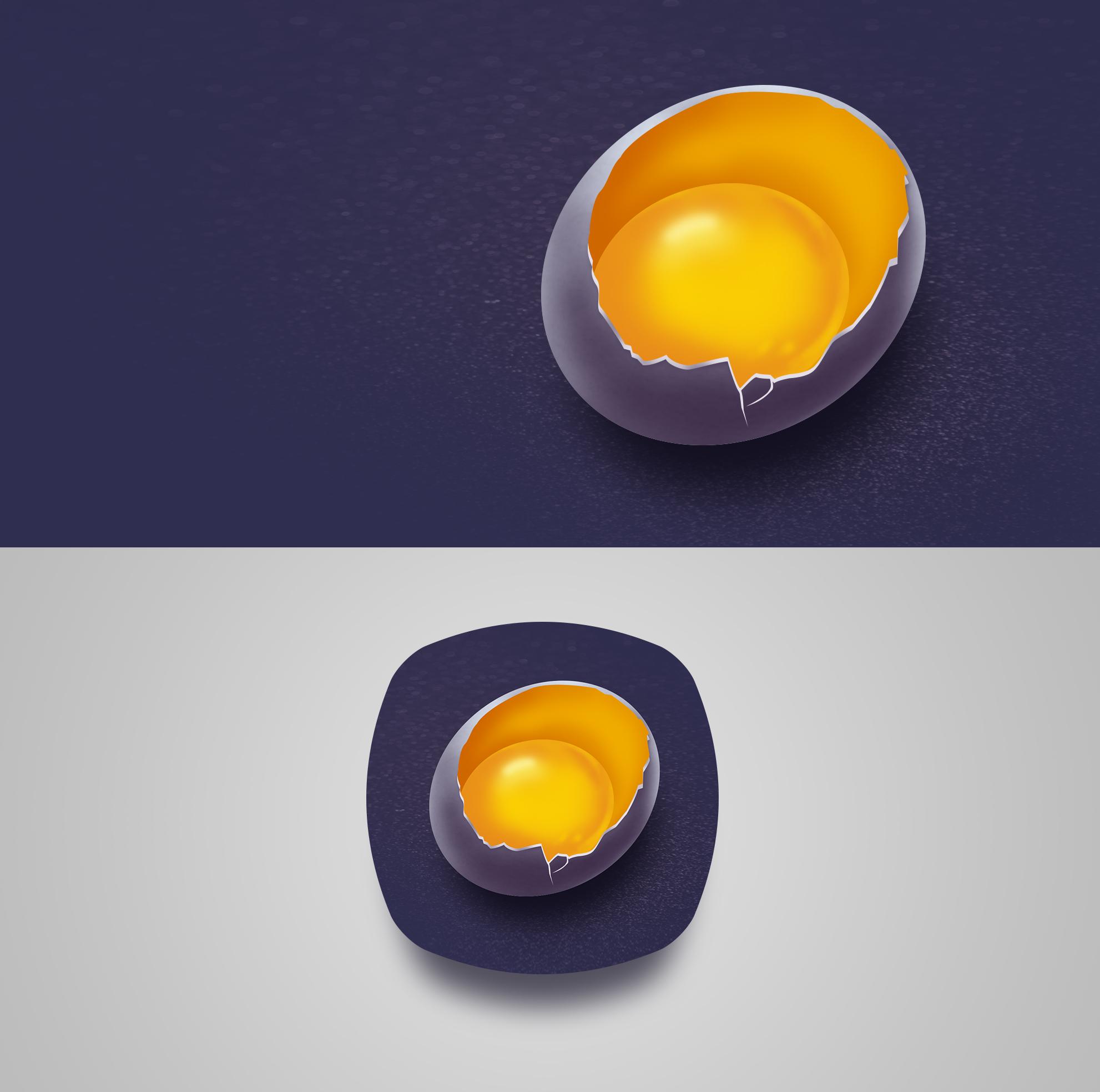 手绘鸡蛋icon