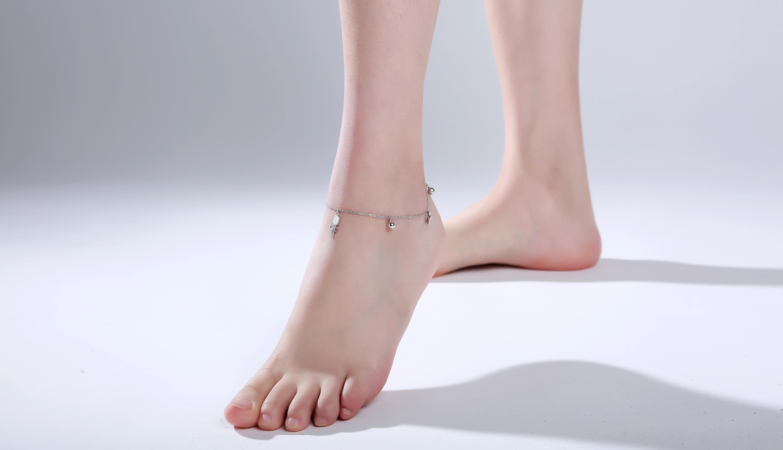 好看的手绘脚链