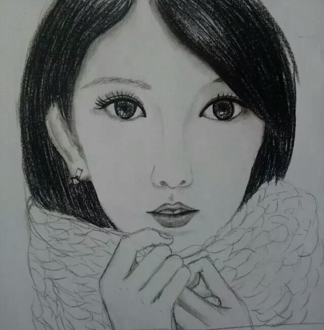 人物画,黑白,手绘,头像|插画习作|插画|一一yiyi
