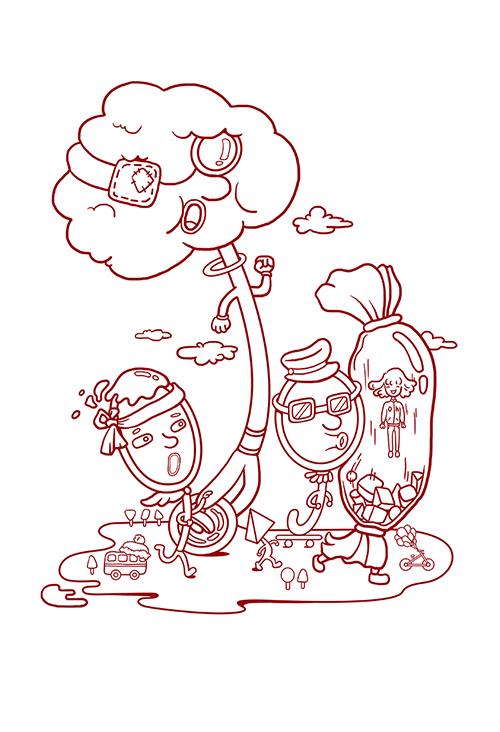 动漫 简笔画 卡通 漫画 手绘 头像 线稿 500_732 竖版 竖屏