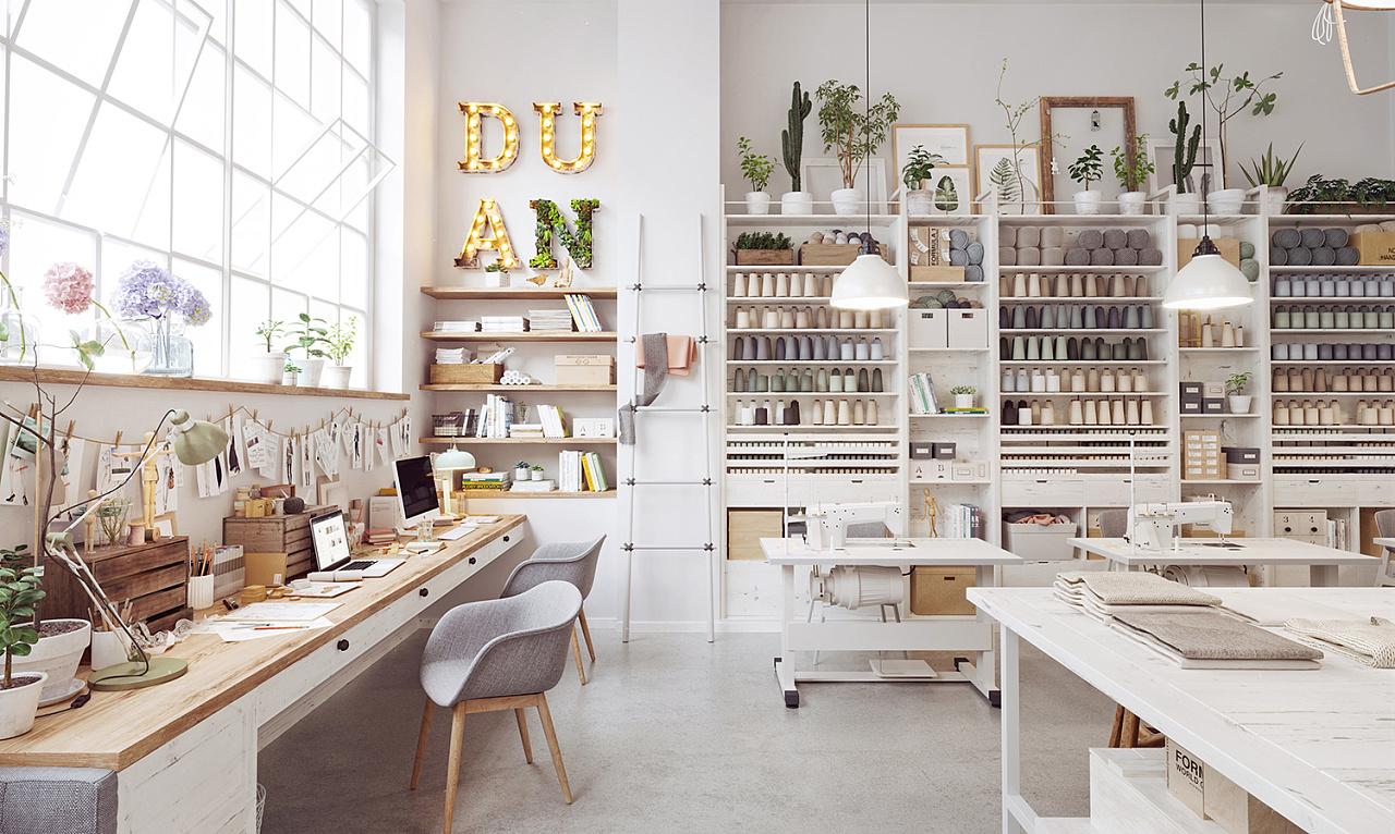 服装设计工作室|空间|室内设计|atng糖 - 原创作品