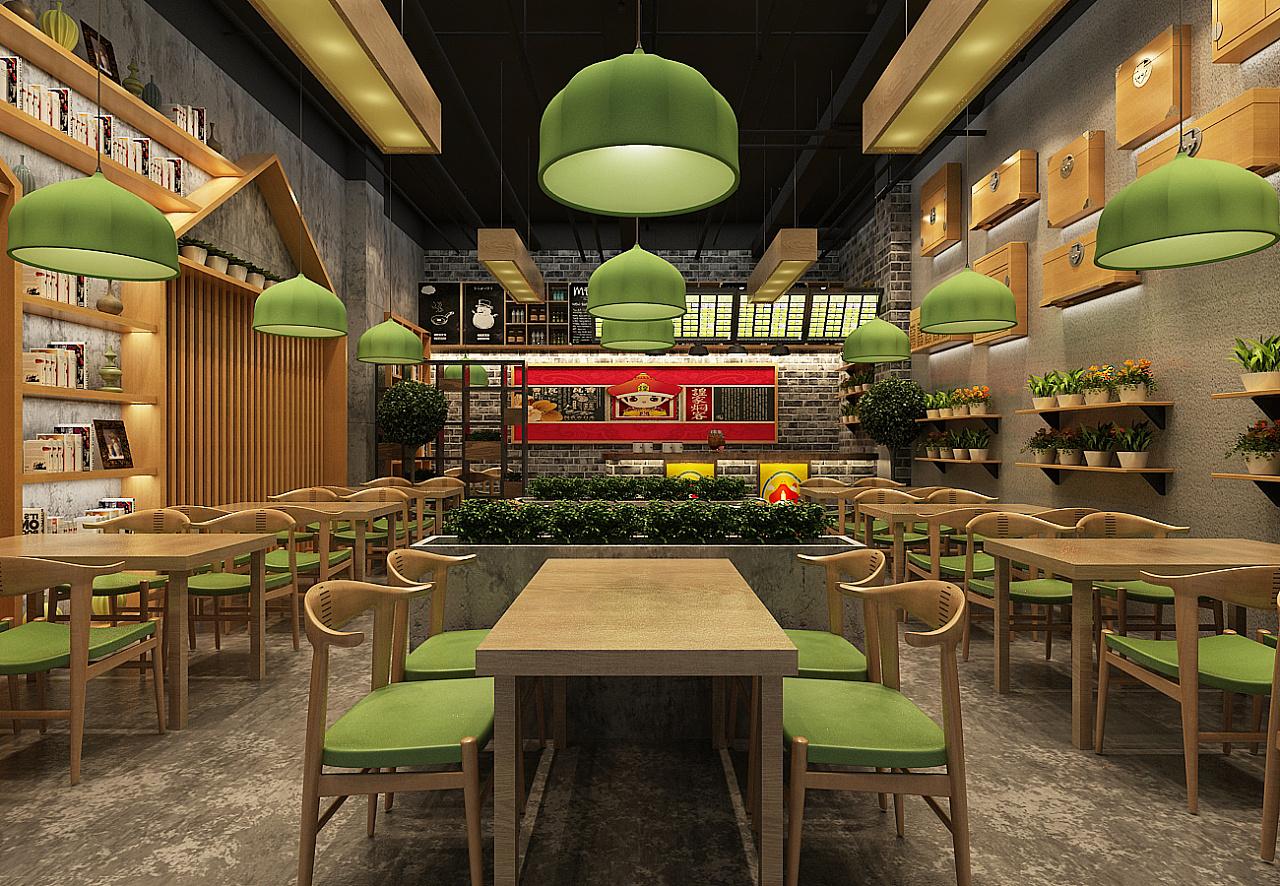 中式快餐店面设计 |空间|室内设计|餐饮设计 - 原创图片