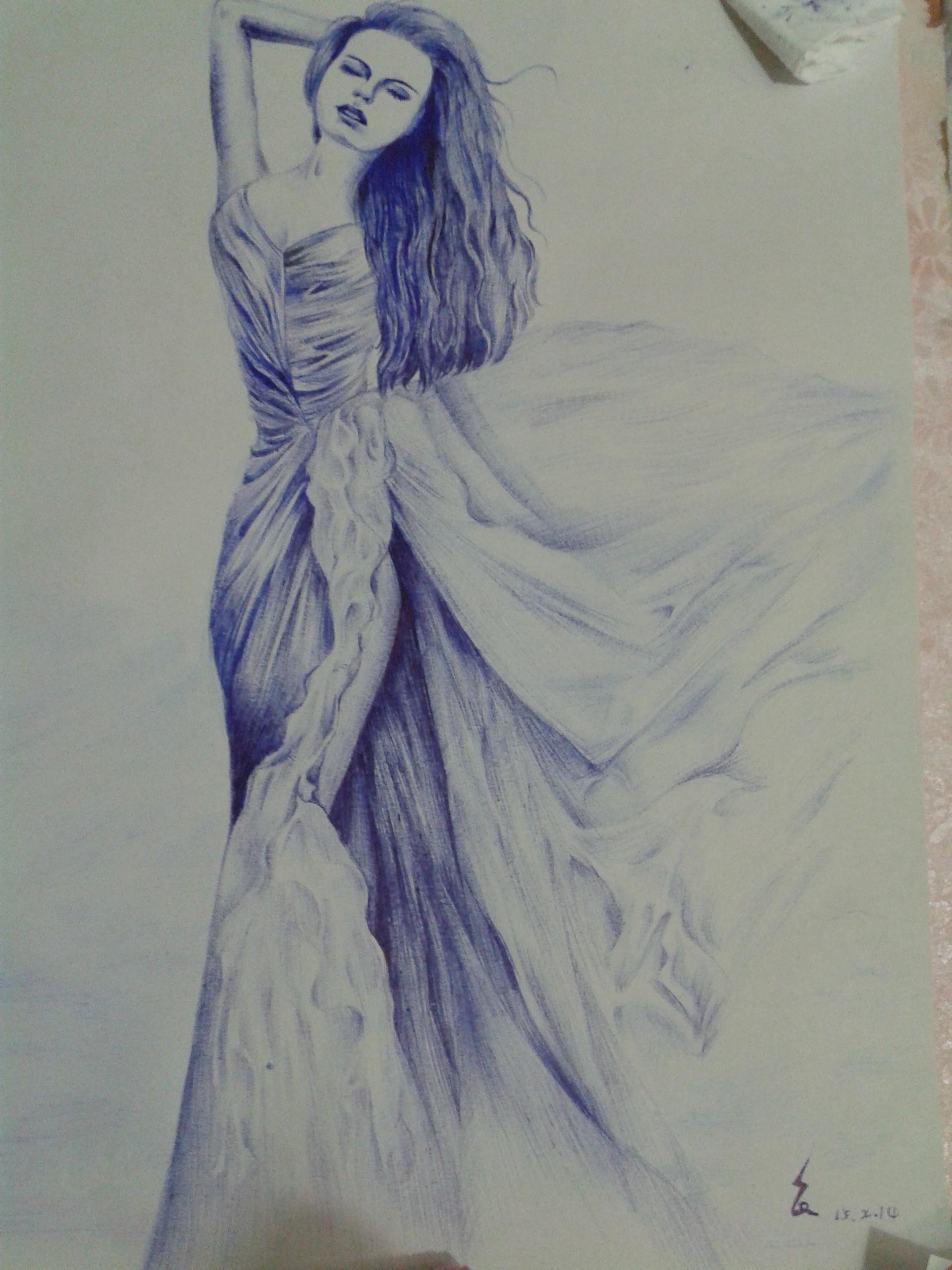圆珠笔手绘