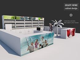 北京大润发葡萄酒专柜卖场氛围及展示柜设计