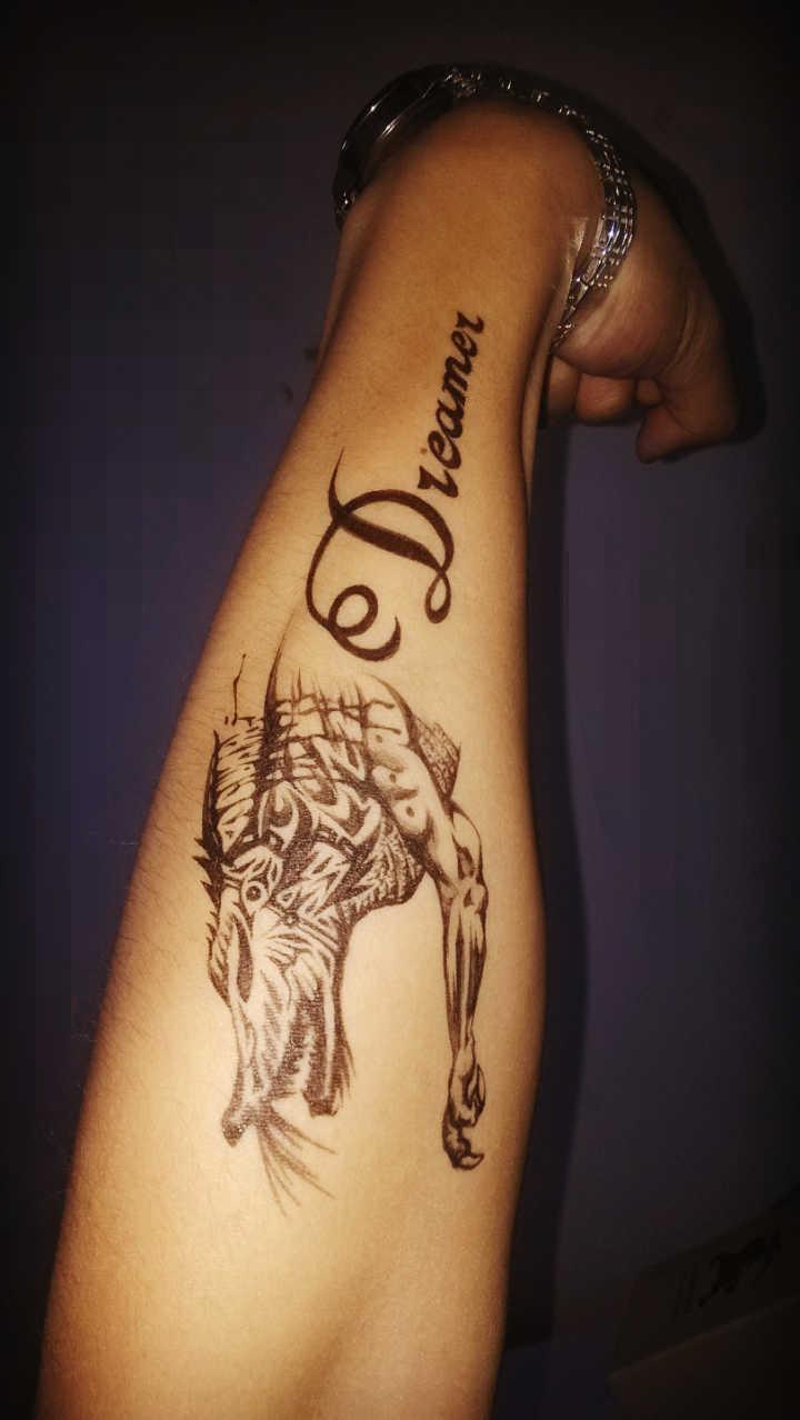 手绘纹身~画着玩儿