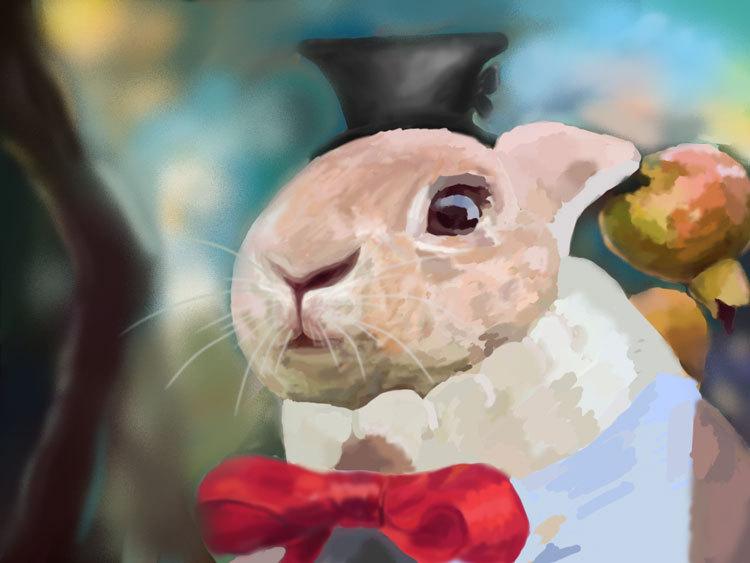 狗和兔子卡通图片
