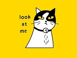 日常实验室猫插画 — 花卷主任