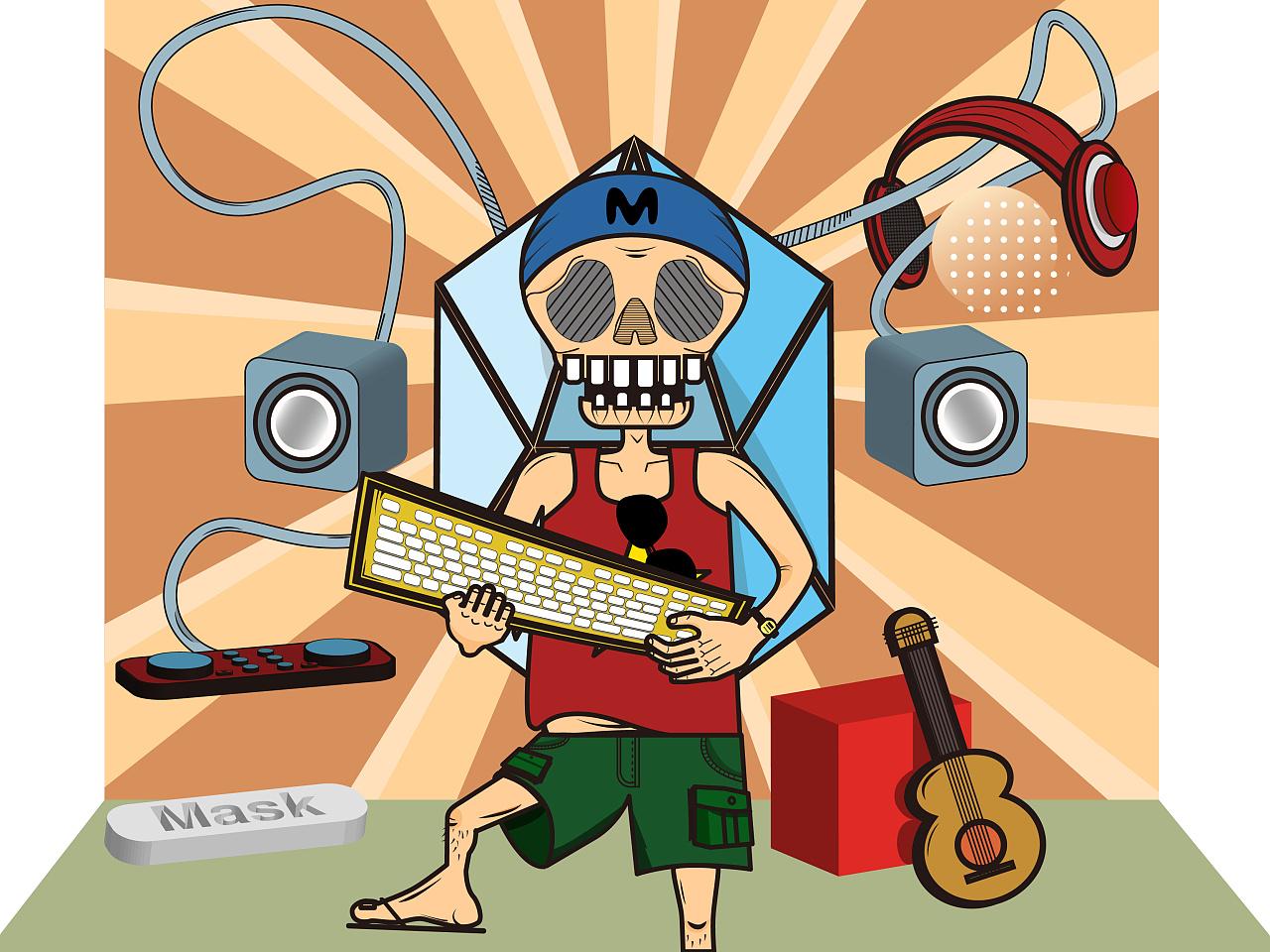 音乐骷髅人
