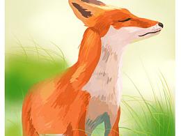 风景-狐狸