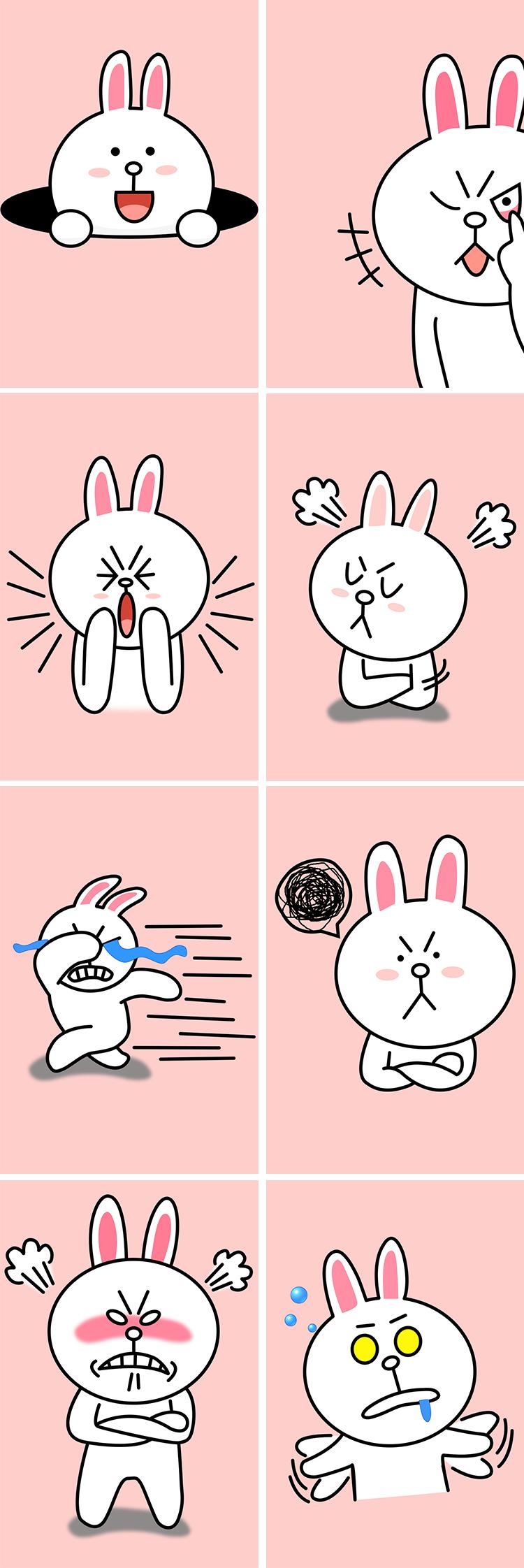 手绘动漫版萌兔子