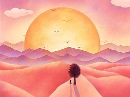 粉色的沙漠